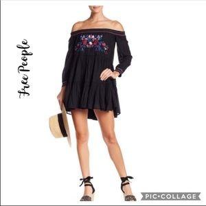 NWT Free People Sunbeams Embroidered Mini Dress